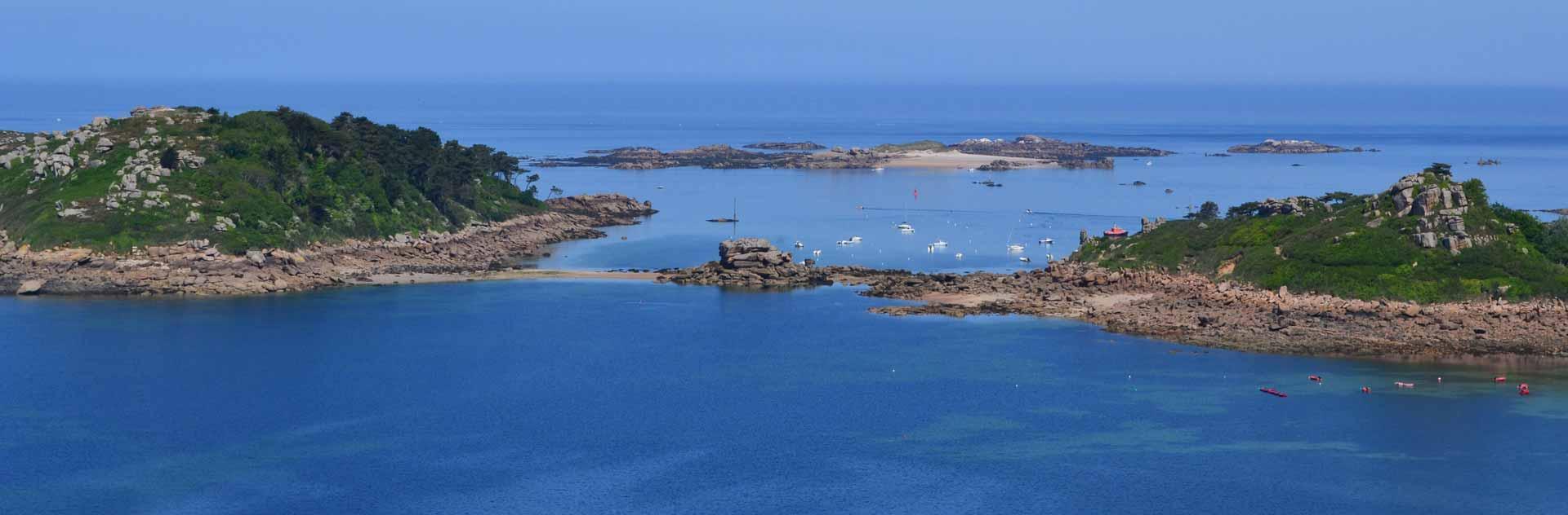 Panorama trébeurden Tresmeur, île Milliau et Molène